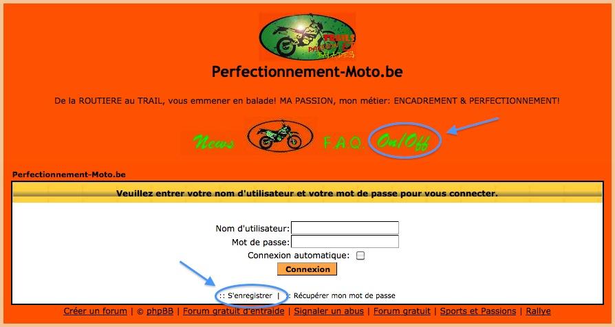 Validation des nouvelles inscriptions... PerfectionnementMoto-Connexion
